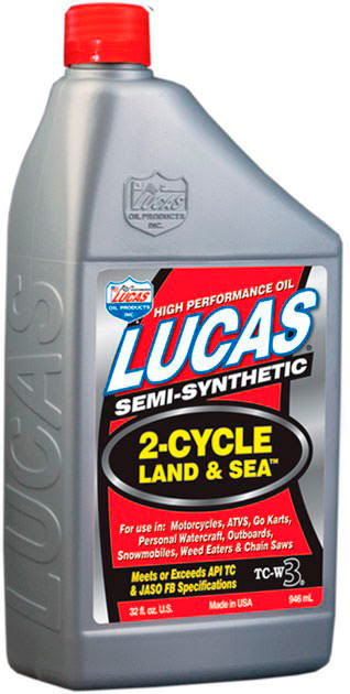 """LUCAS OIL"" LAND & SEA 2-CYCLE ""MOTAS AGUA"" 1Ltr"