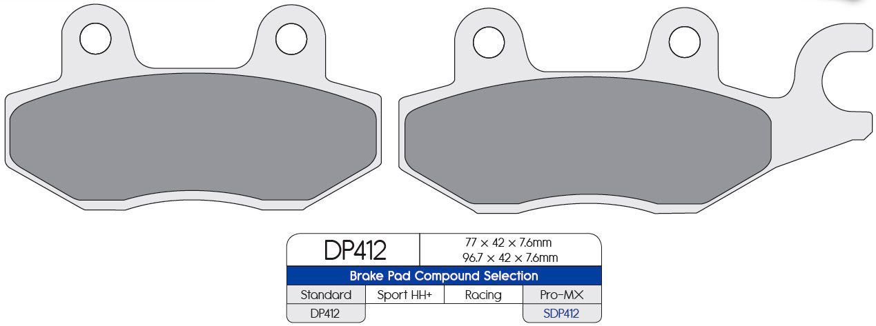 DP Brakes Sintered Brake Pads (SDP PRO-MX) «Front Right»