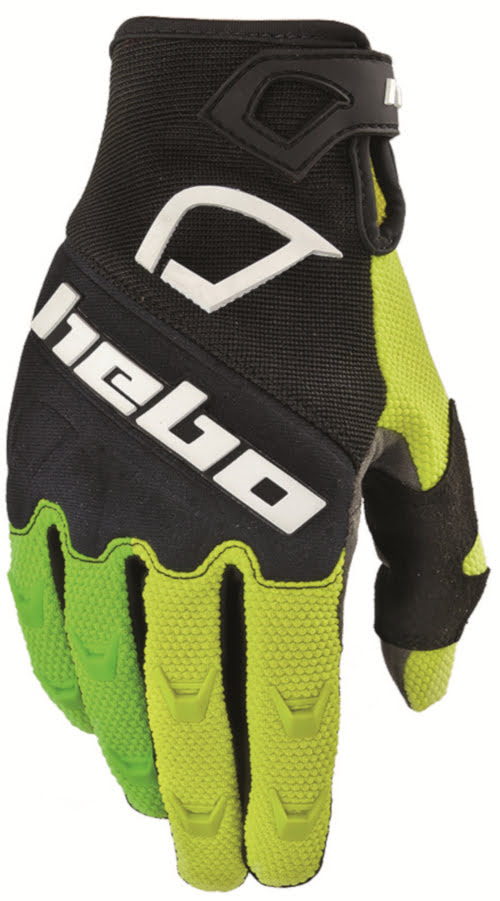 Luvas Hebo Off-Road SCRATCH Pretas/Lima (10-USA) - L