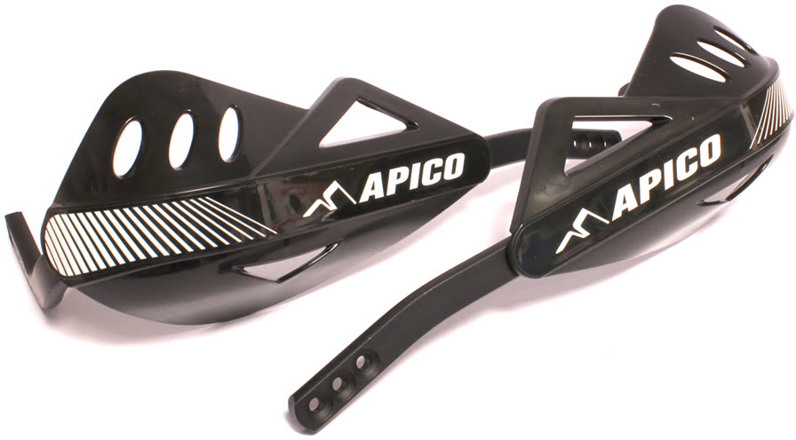 APICO ENDURO HANDGUARD WITH FULL WRAP AROUND ALUMINIUM FRAME BLACK