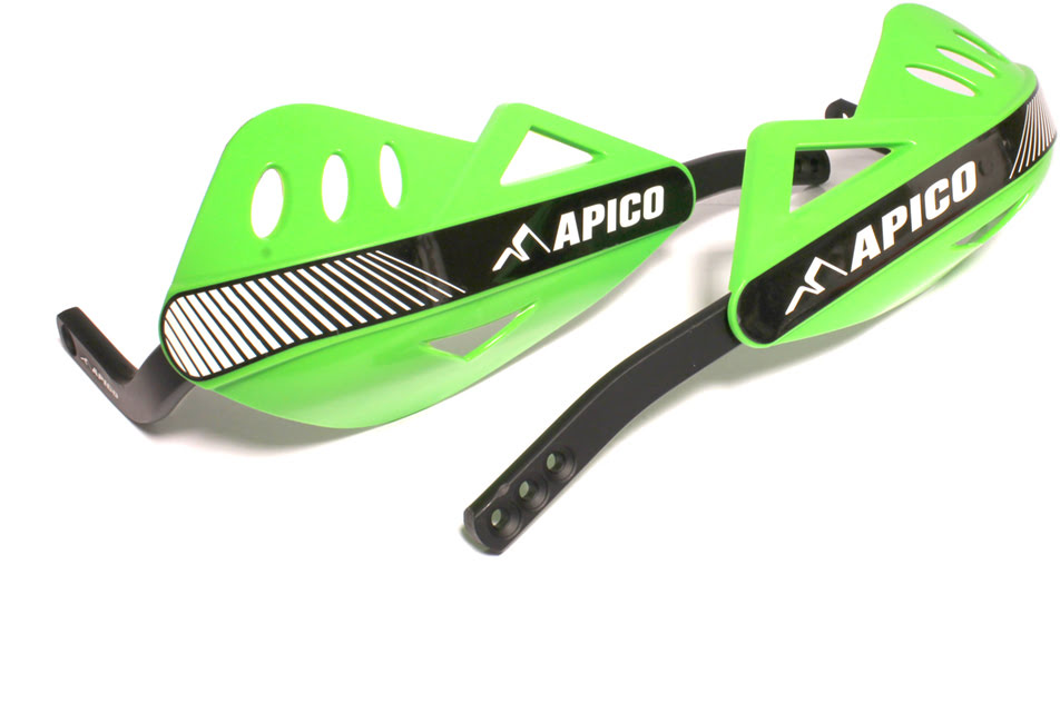 APICO ENDURO HANDGUARD WITH FULL WRAP AROUND ALUMINIUM FRAME GREEN