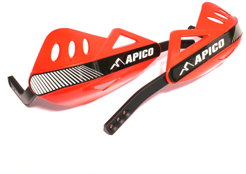 APICO ENDURO HANDGUARD WITH FULL WRAP AROUND ALUMINIUM FRAME RED