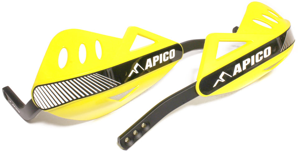 APICO ENDURO HANDGUARD WITH FULL WRAP AROUND ALUMINIUM FRAME YELLOW
