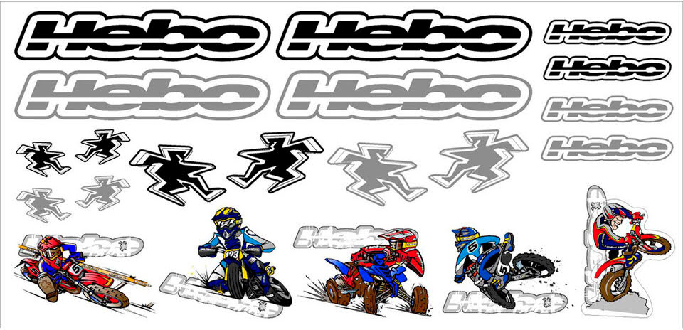 FOLHA KIT AUTOCOLANTES HEBO RACING 510X245mm
