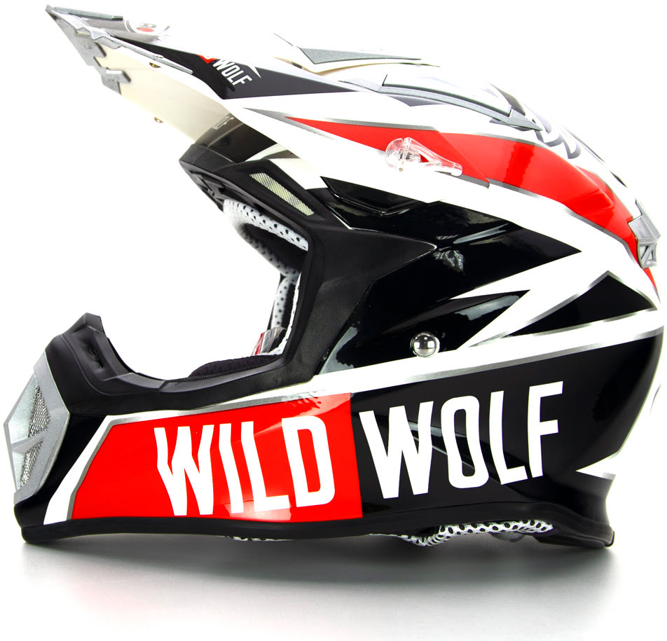 Capacete Off-Road MX-912 WILD WOLF Replica